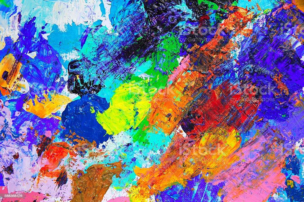 アートのアブストラクトペイントにアクリルの色 - まぶしいのロイヤリティフリーストックイラストレーション