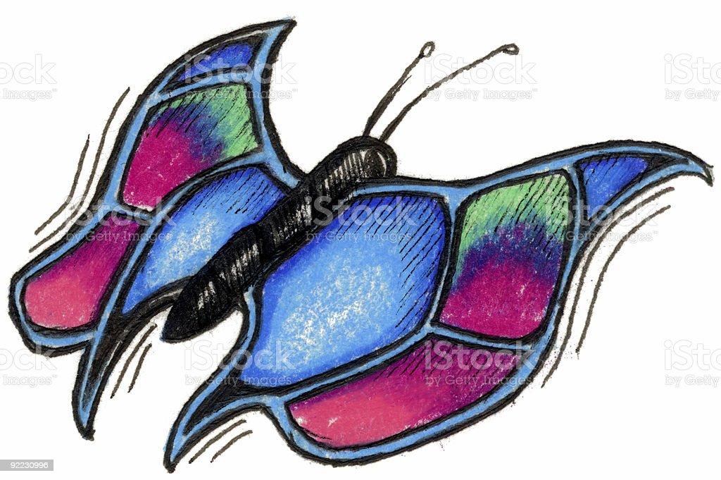 Art - Butterfly vector art illustration