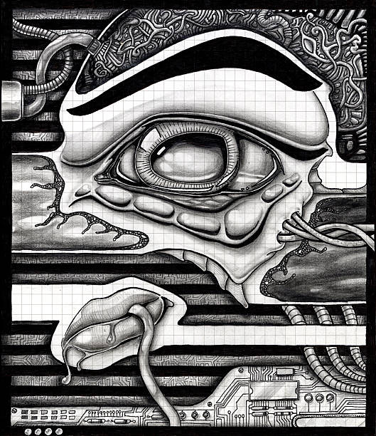 Art - Caffiene vector art illustration