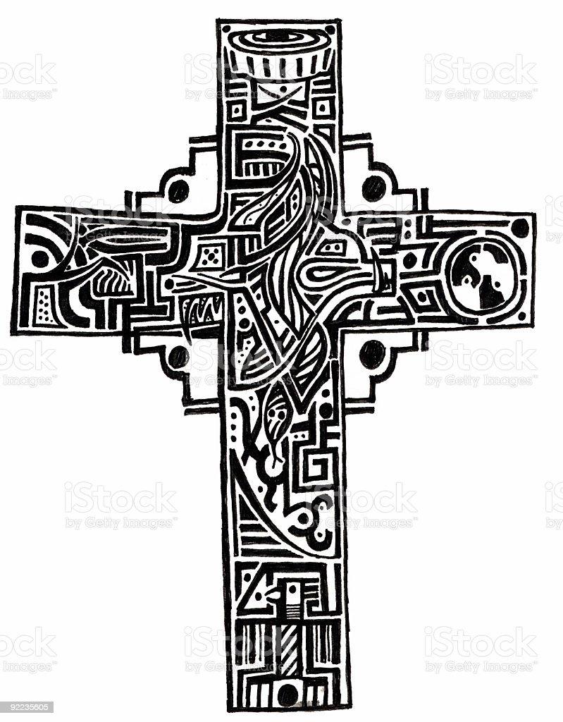 Art - Cross vector art illustration