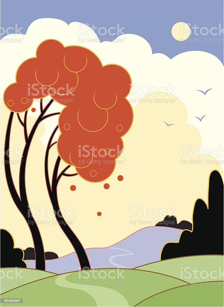 Art Deco landscape royalty-free art deco landscape stock vector art & more images of animal themes