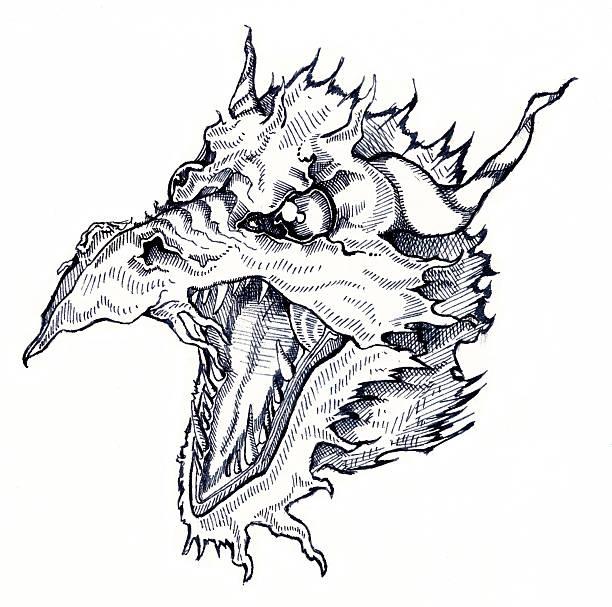 Art - Dragon1 vector art illustration