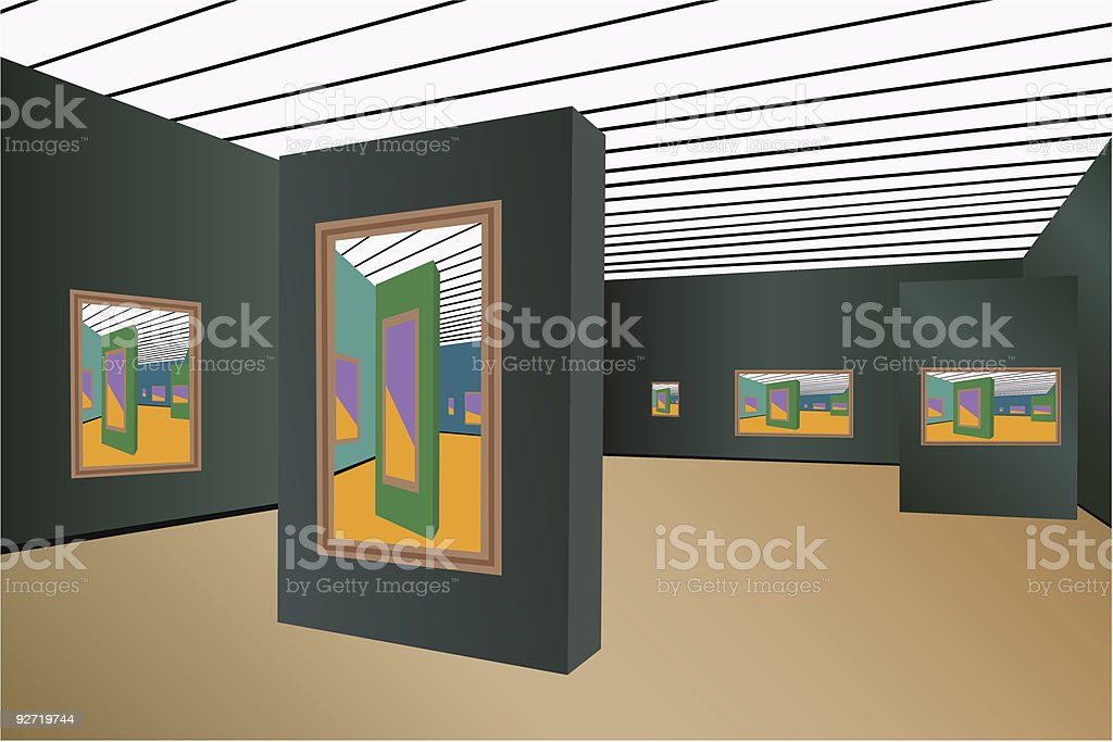 art gallery vector royalty-free stock vector art