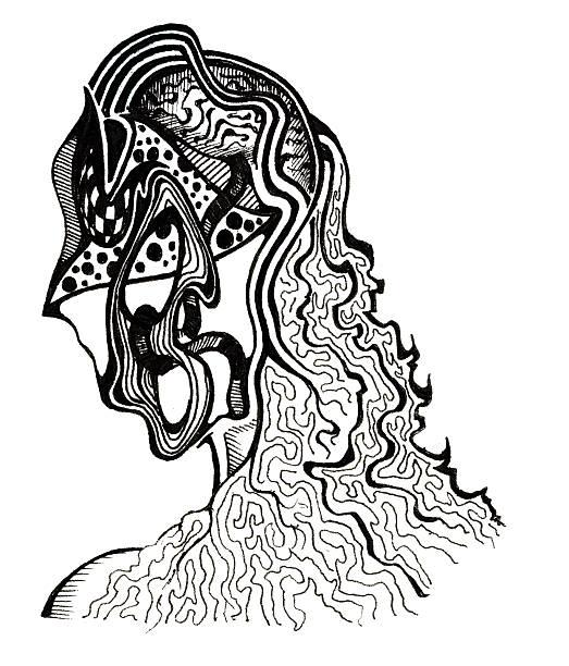 Art  - Moment of Thought vector art illustration