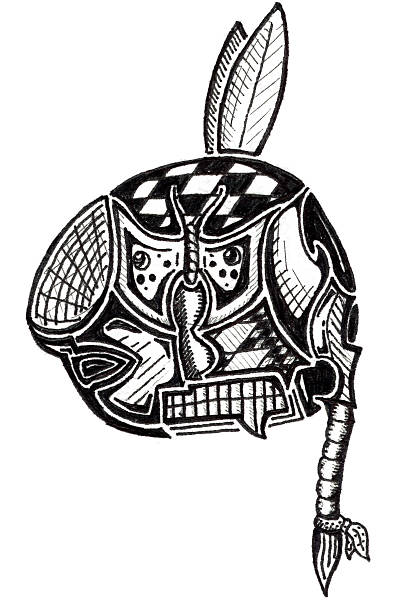 Art - Native American Abstract vector art illustration