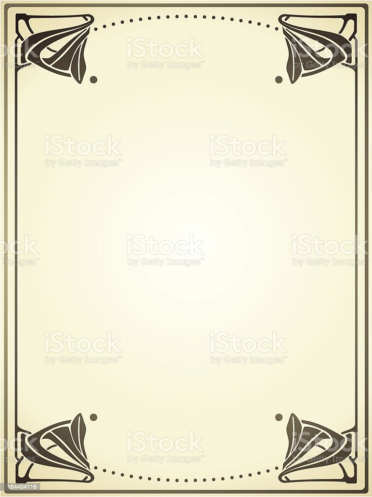 art nouveau frame royalty-free stock vector art