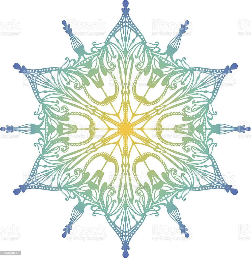 Art Nouveau Snowflake 2 Stock Vector Art & More Images of Art ...