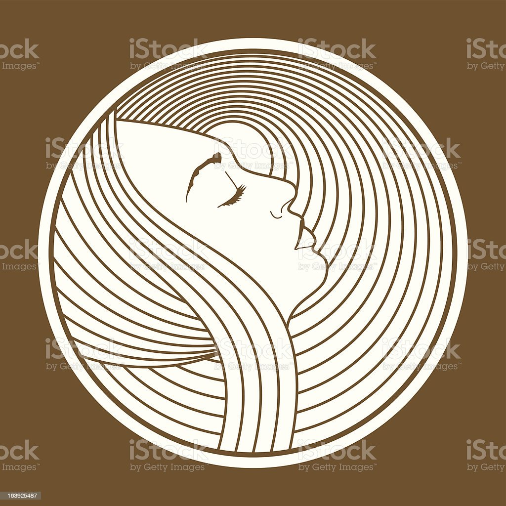 Art Nouveau Woman vector art illustration