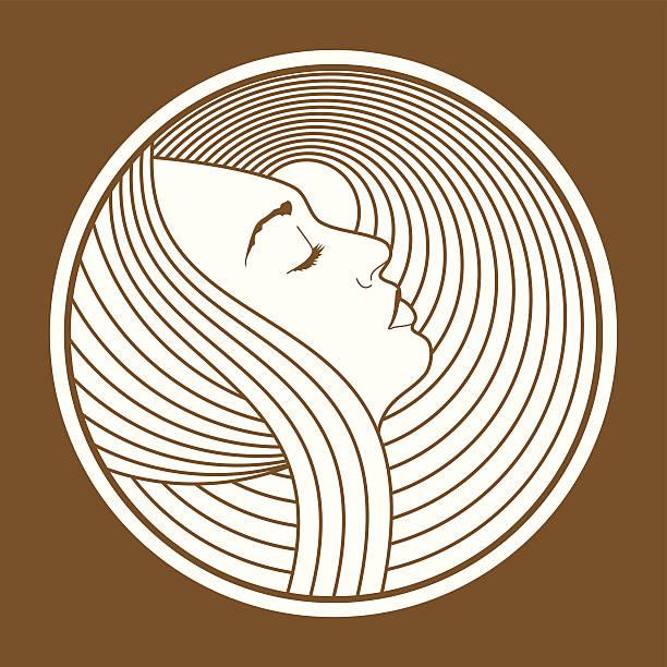 Art Nouveau Woman vector art illustration
