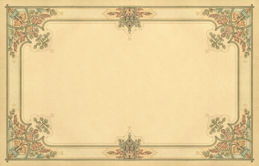 Art Noveau Floral Frame Work