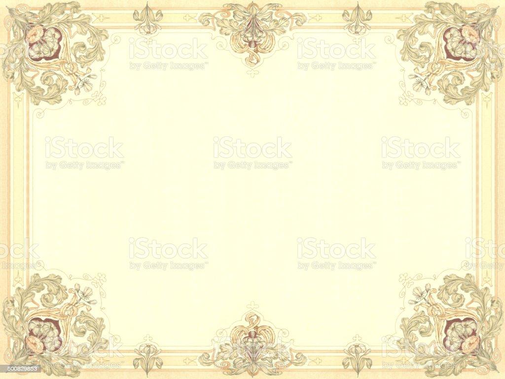 Art Noveau quadro Floral - ilustração de arte em vetor