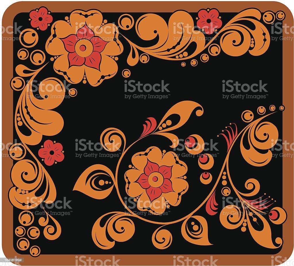 Art of Khokhloma royalty-free stock vector art