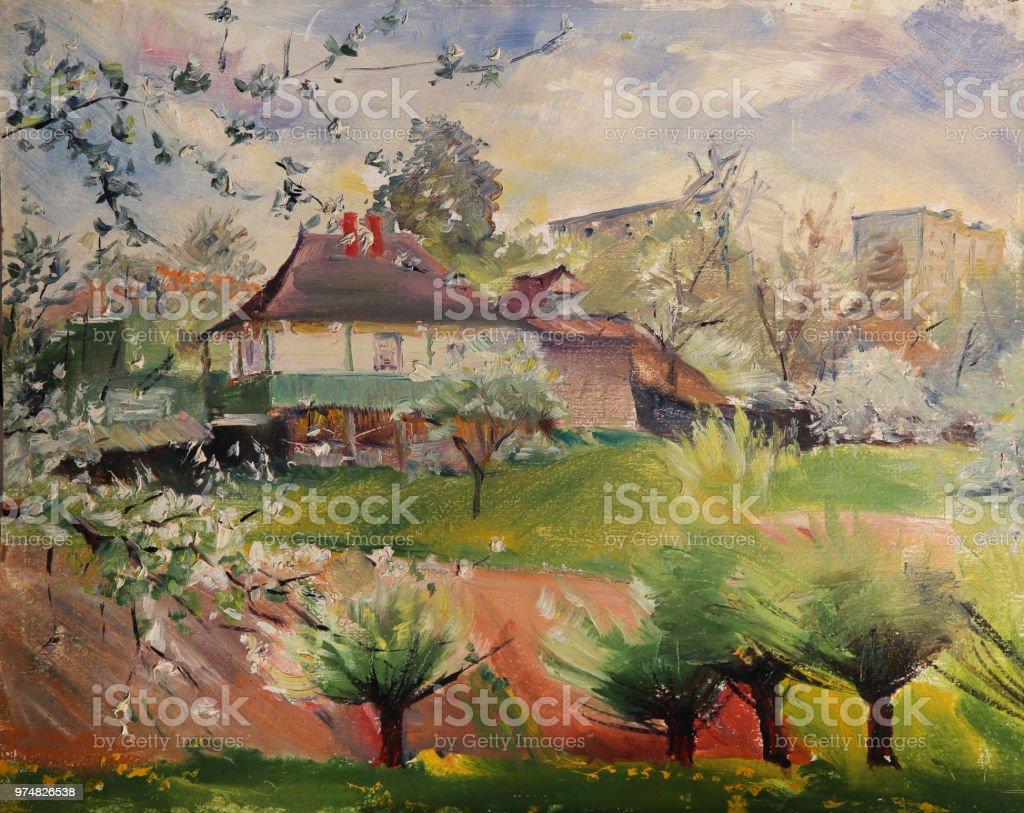 芸術の春風景画 まぶしいのベクターアート素材や画像を多数ご用意 Istock