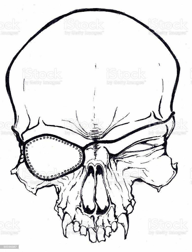 Art  - Pirate Skull vector art illustration