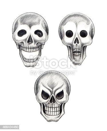 istock Art Skull 3 Emotion. 466404480