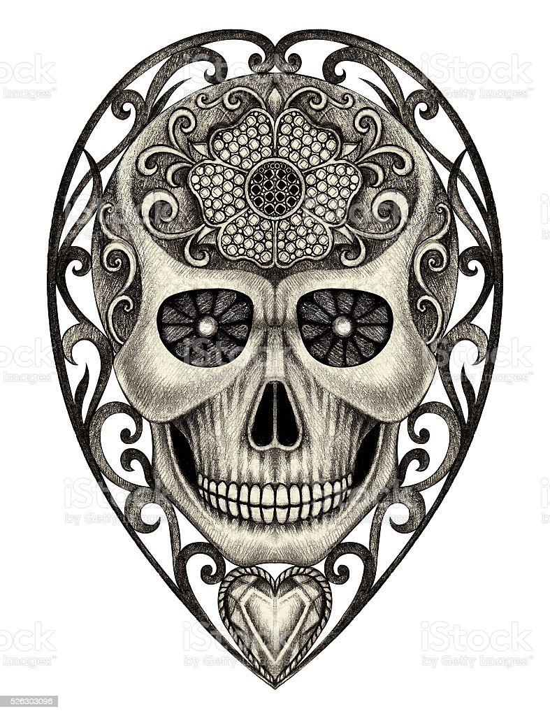 Ilustración De Arte Cráneo Día De Los Muertos Y Más Vectores Libres