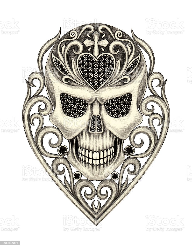 アートスカル死者の日です。 ベクターアートイラスト