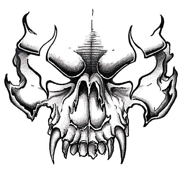 Art  - Skull vector art illustration