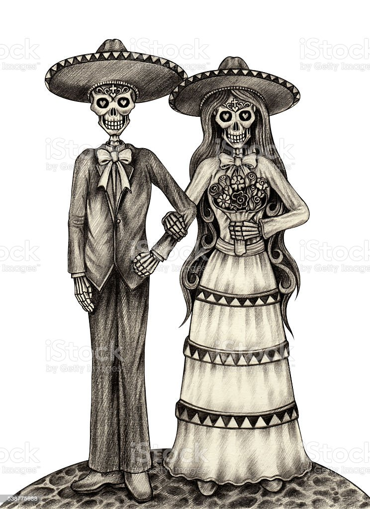 Royalty Free Skeleton Bride And Groom Clip Art Vector Images