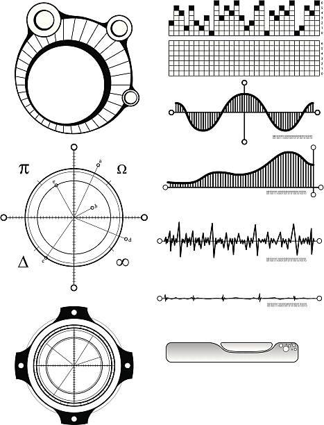 Art - Technical Design Elements 1 vector art illustration