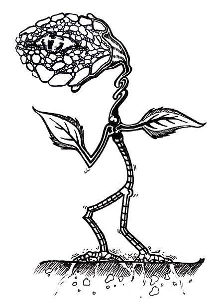 Art - WeirdFlower vector art illustration