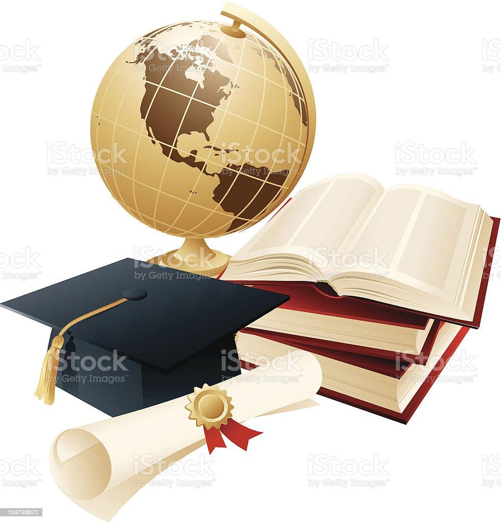Articles of graduating student  Achievement stock vector