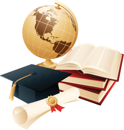 Articles Of Graduating Student Stock Illustration - Download Image Now