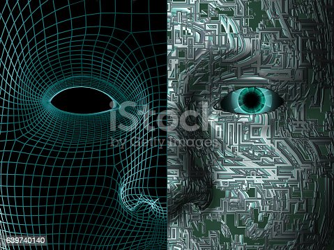 istock artificial man, concept of modern and future technologies 639740140