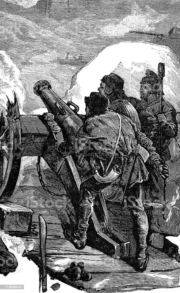 Artillery royalty-free stock vector art