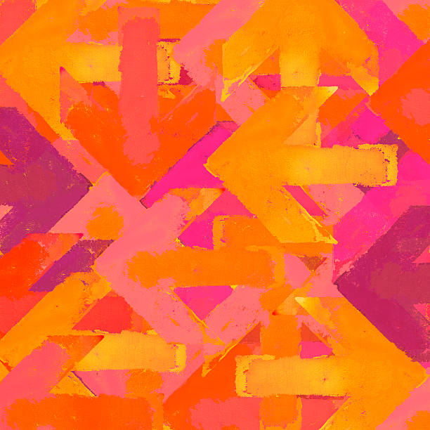 artistic grunge arrows background in a warm colors - graffiti backgrounds stock illustrations, clip art, cartoons, & icons
