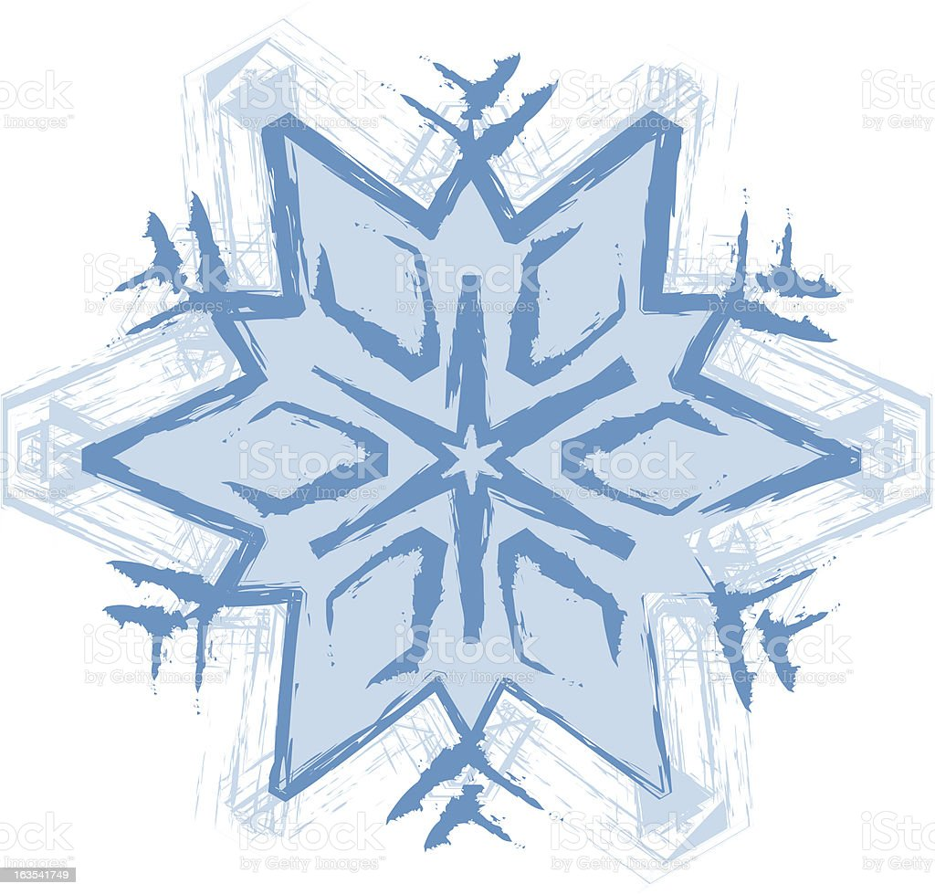 Artistic Snowflake royalty-free stock vector art