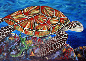 Artwork - Hawaiian Sea Turtle
