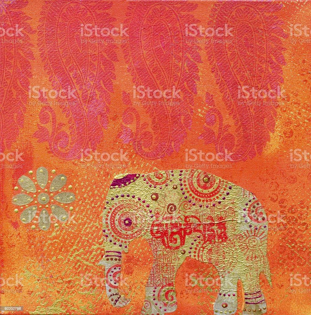 artwork indian style vector art illustration