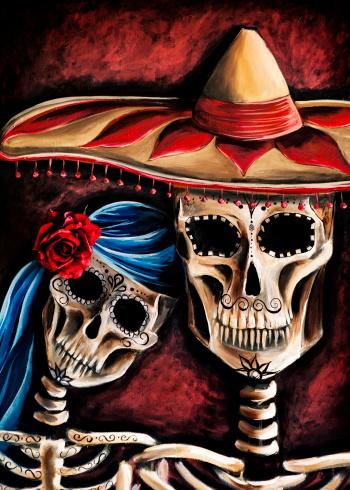 Artwork: Mexican Sugar Skull Painting