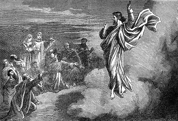 ascension of jesus christ - mimari illüstrasyonlar stock illustrations
