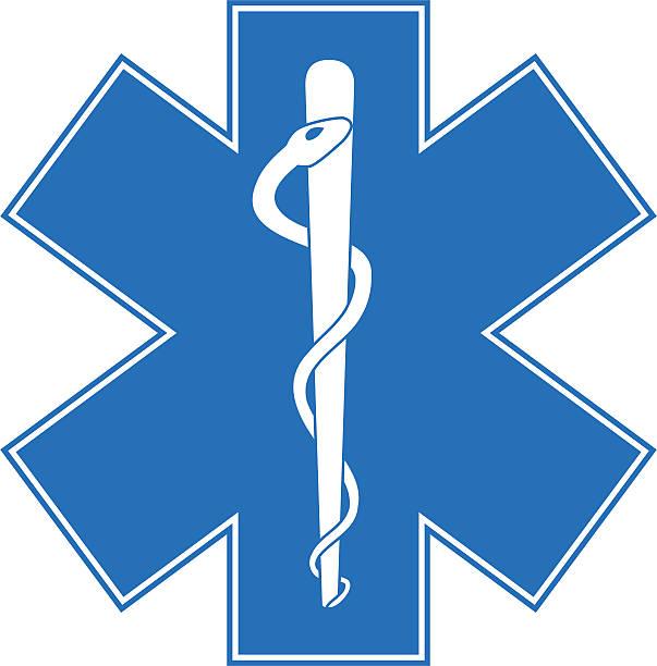 ilustraciones, imágenes clip art, dibujos animados e iconos de stock de asclepio: estrella de vida - técnico en urgencias médicas
