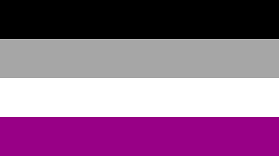 Asexual flag colors. Asexuality concept.
