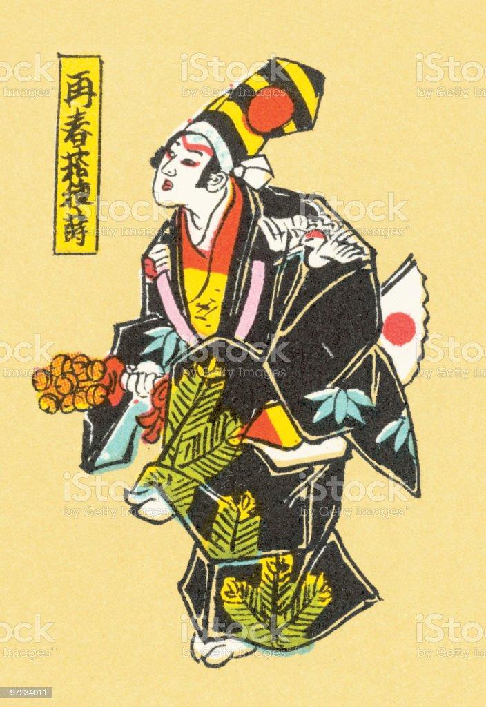 Asian man royalty-free stock vector art