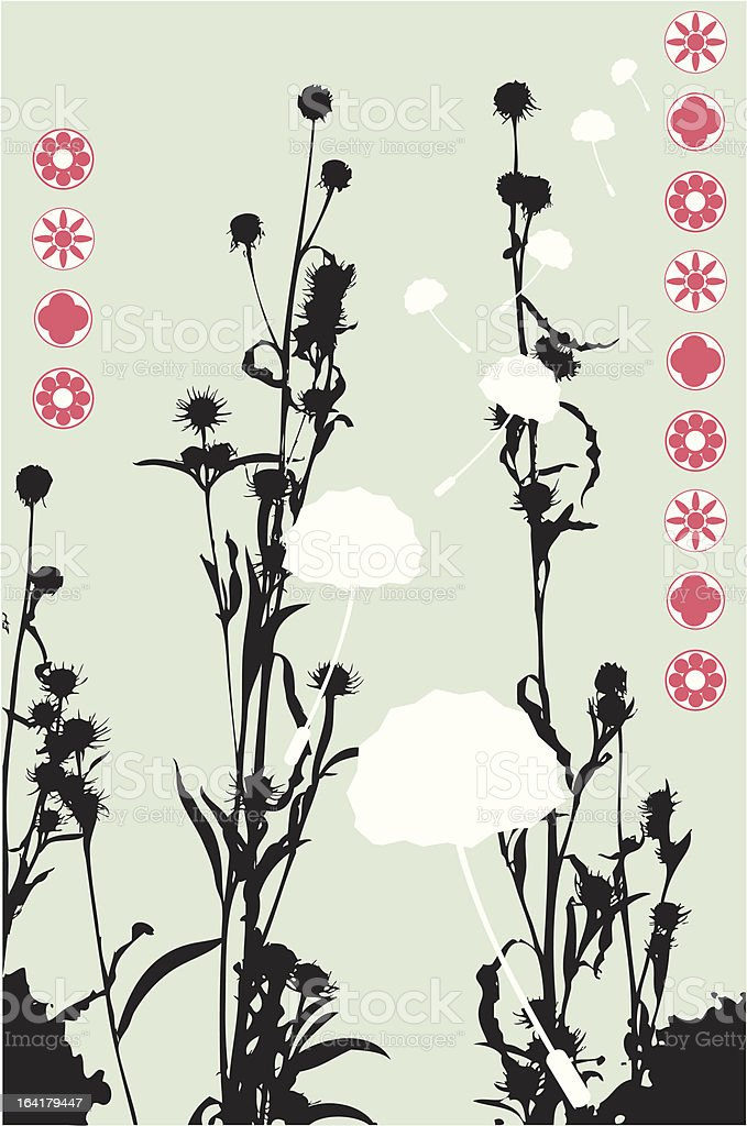 Asian Weeds royalty-free stock vector art