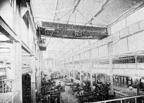 Assembly hall of a machine factory