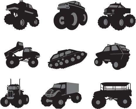 Assorted big vehicles
