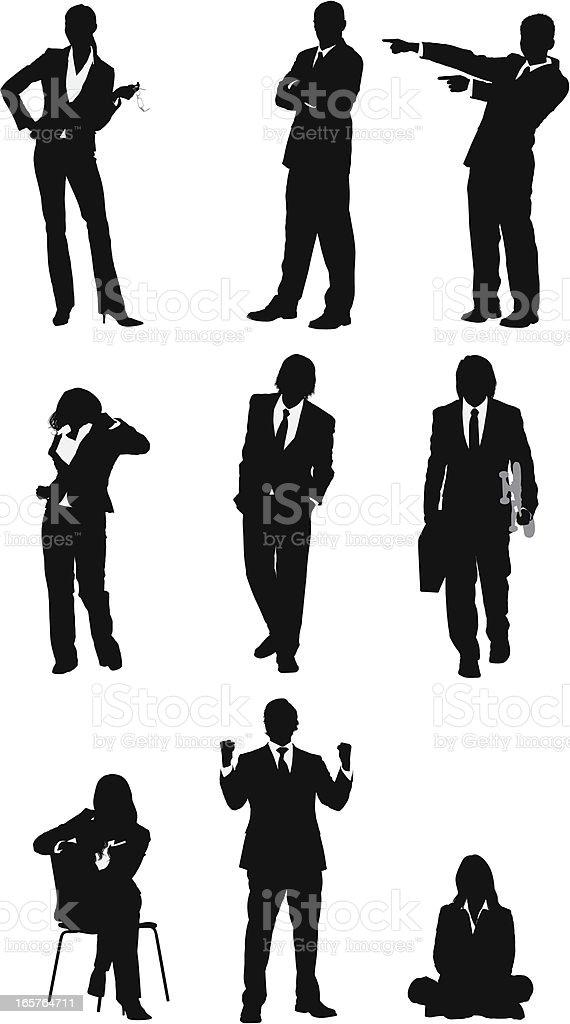 Assorted businessmen and businesswomen vectors royalty-free stock vector art