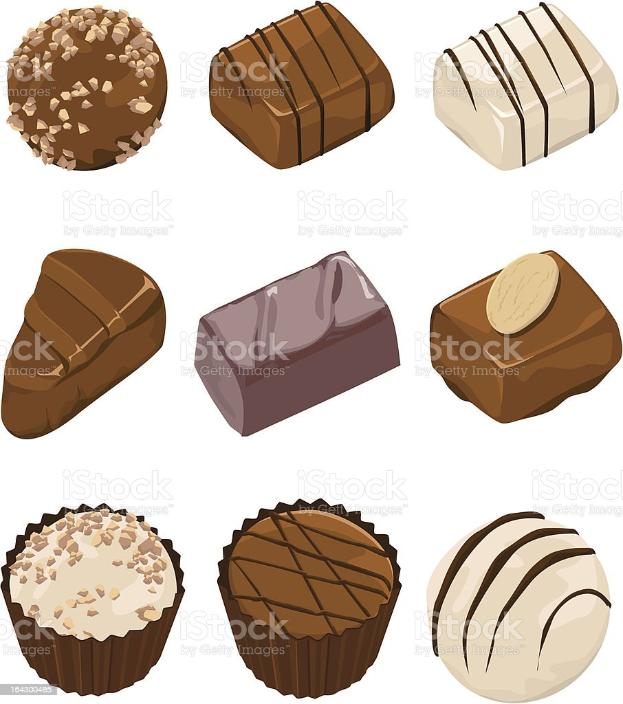 Assorted Chocolates vector art illustration