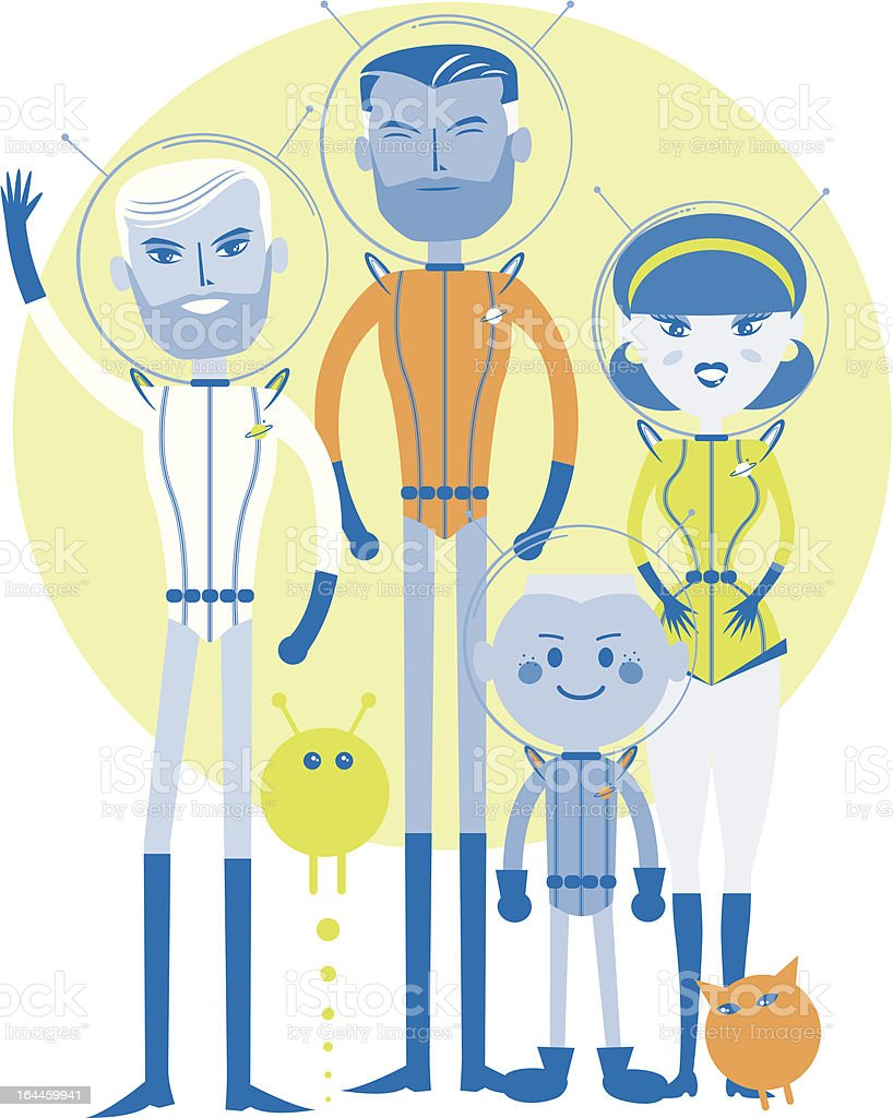Asteroid Family Spot Illustration, Caucasian, Homosexual Gay (isolated) royalty-free asteroid family spot illustration caucasian homosexual gay stock vector art & more images of 1950-1959