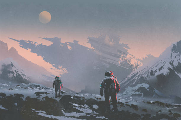 Space exploration stock illustrations