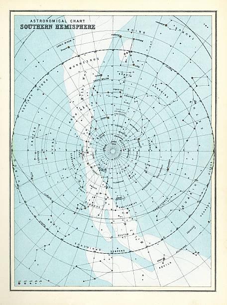 ilustrações de stock, clip art, desenhos animados e ícones de astronomical do-sul - mapa das estrelas