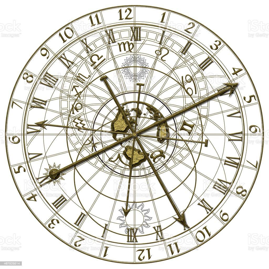 Astronomical Clock vector art illustration