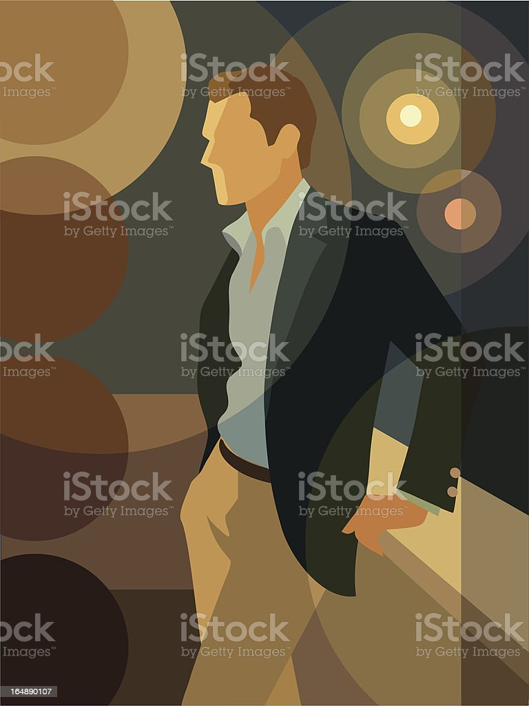 At Night royalty-free stock vector art