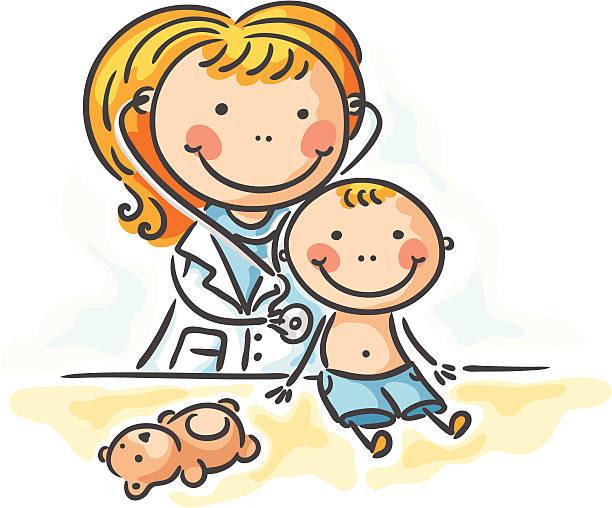 ilustrações, clipart, desenhos animados e ícones de no médico - pediatra