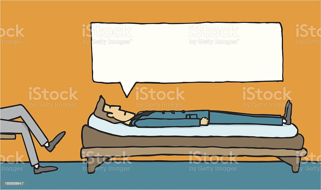 At the psychiatrist royalty-free stock vector art